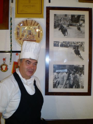 Pierino Fagnani, chef and owner of Da Bagoga