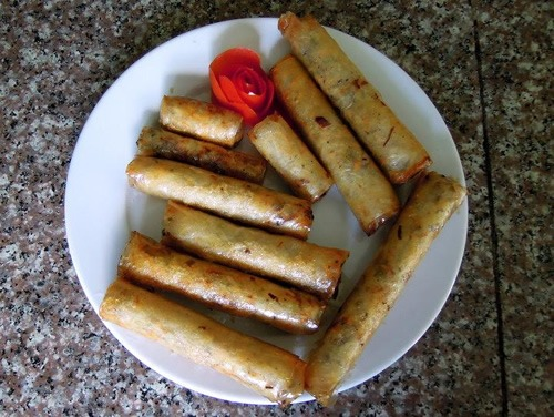Cat Ba Island - final fried spring rolls