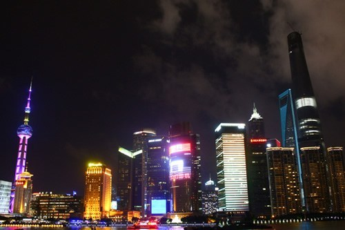 Night skyline of Shanghai, China
