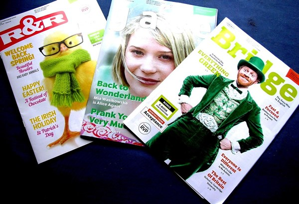 Three students' English magazines published in Prague