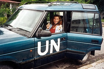 Zorana Maltar with United Nations in East Timor