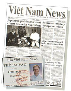 Working at Vietnam Newspaper