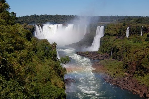 Iguazu Falls waterfall in Brazil