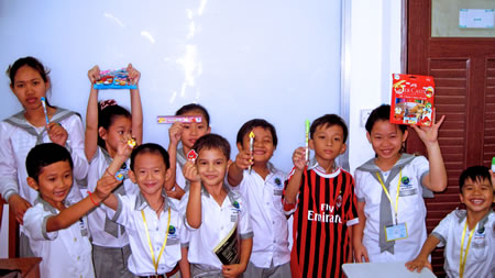 Children in English Class in Cambodia