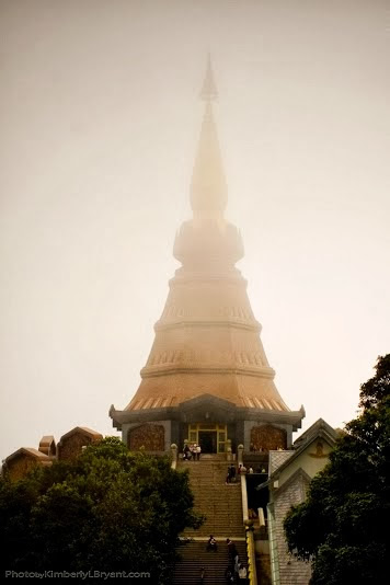 Doi Inthanon temple, the highest peak in northern Thailand.