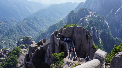 Huangshan mountain range in eastern China