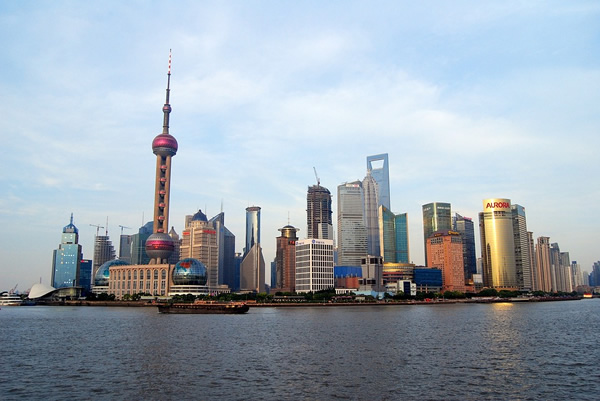 The unique skyline of exciting Shanghai