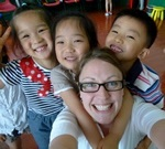 Teaching English to a kindergarden class in China