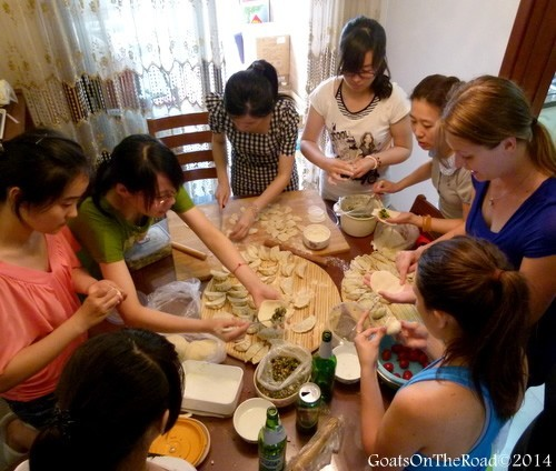Learning how to make Chinese dumplings
