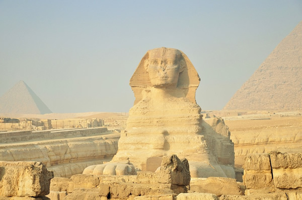 The Sphinx of Giza, in Egypt