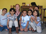 Teaching English to schoolchildren in Chiapas