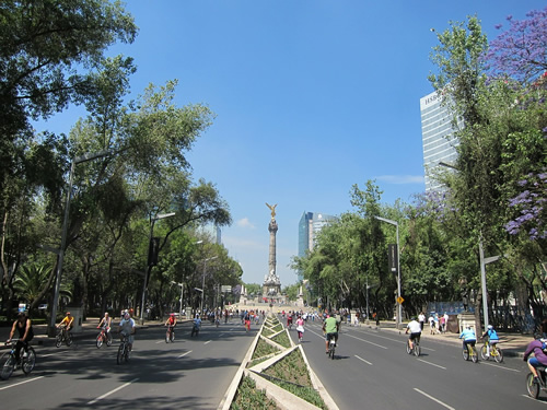 Mexico City park and bikes