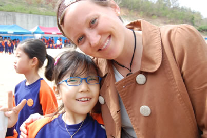 South Korea Student with author