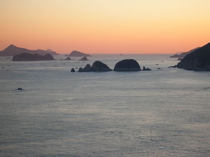 Islands off of the south coast of Korea.
