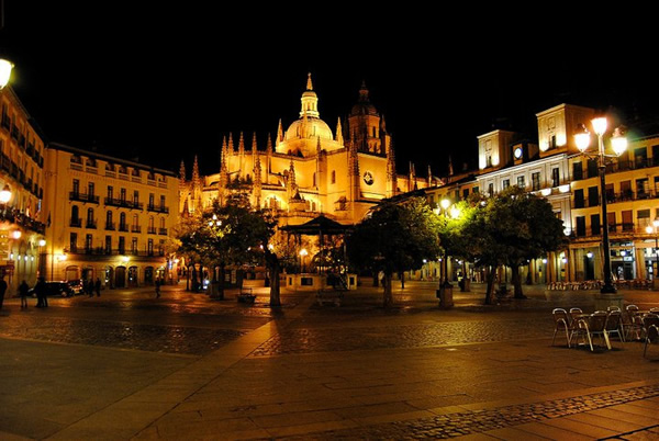 The Plaza in Segovia, Spain - a day trip opportunity from Madrid