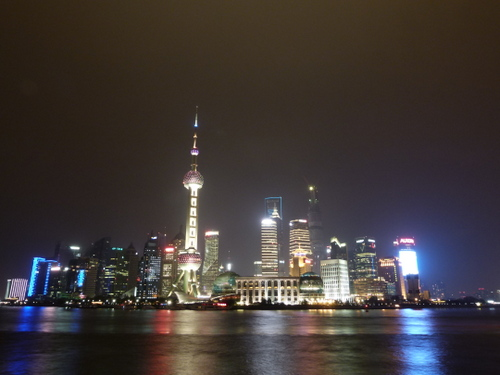Skyline of Shanghai at night
