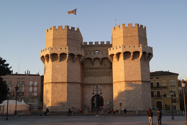 A castle in the old town of Valencia
