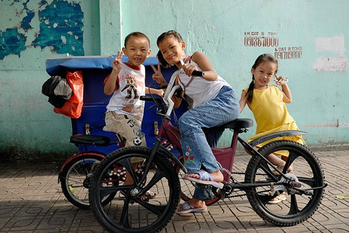 Peaceful children in Ho Chi Minh City