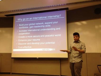 Presentations on reasons to intern