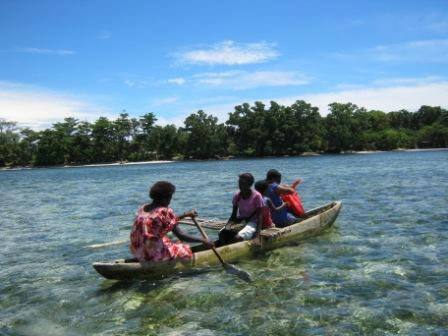 Canoe in Papua New Guinea