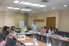 Insurance training session in Albania