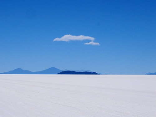 Salt fields of on the Salar de Uyuni, Bolivia