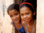 Volunteer with children in Brazil