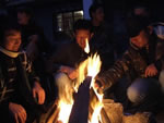 Bonfires in Dharamsala by students
