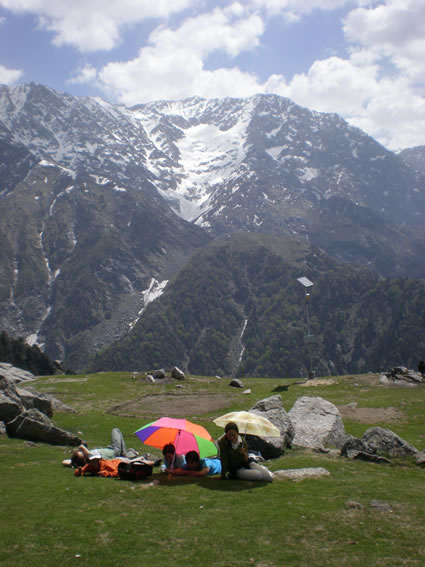 Relaxing at Triund