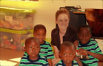 Volunteer teaching English in Namibia