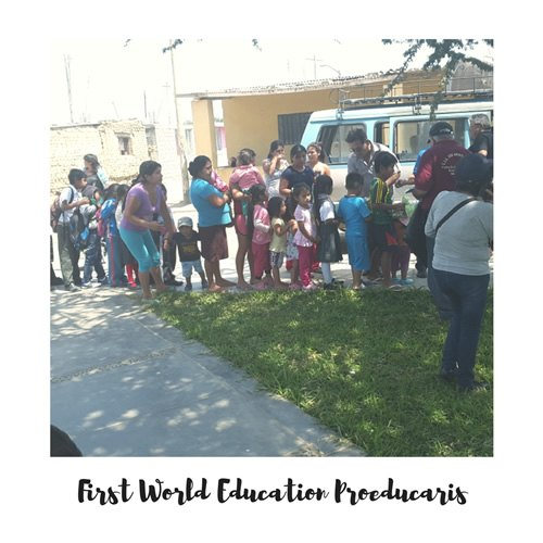 First World Education volunteers