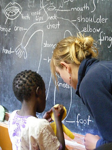 A girl's school in Tanzania