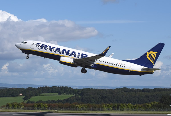 Budget flights within Europe with Ryanair