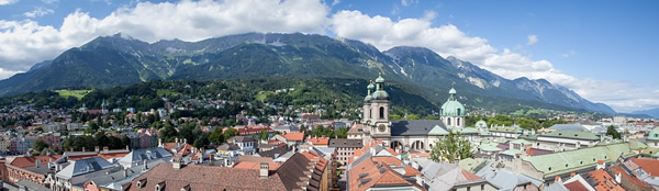 Skyline of music center Innsbruck