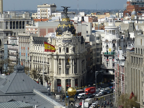 Bustling central Madrid