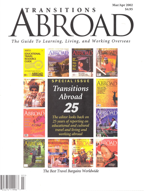 Transitions Abroad magazine at 25