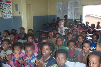 Ethiopia with Children at Missionary School