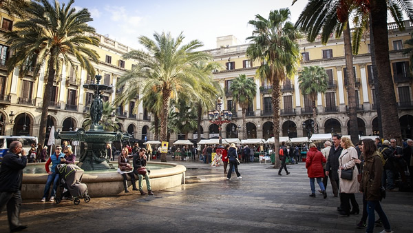 Square in Barcelona, Spain