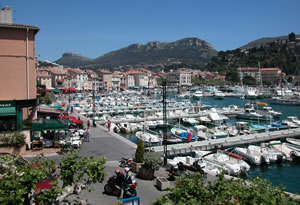 Casis port in Provence, France