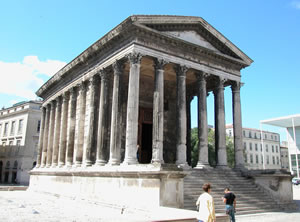 Romen Temple in Nimes, Provence, France