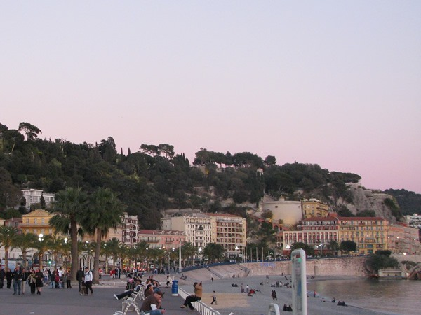 The Promenade des Anglais stretches miles along the beach of Nice