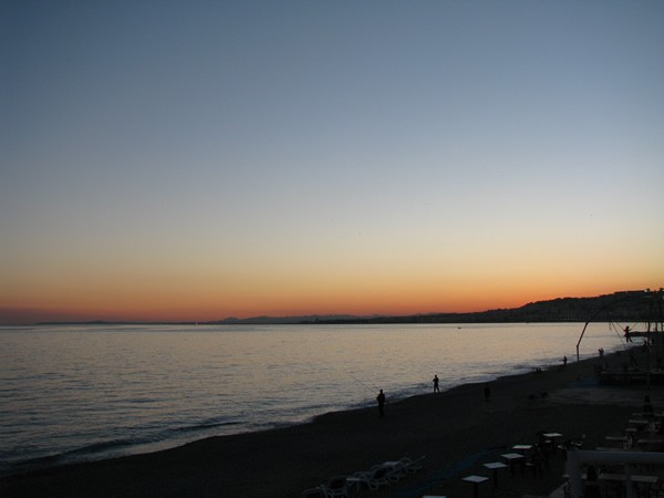 Sunset from the Promenade des Anglais