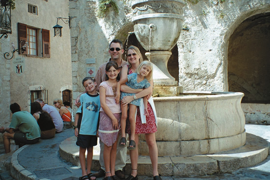 Family travel in France