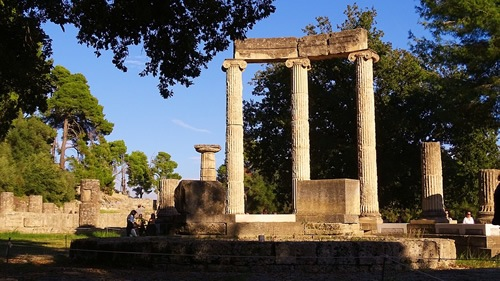 A temple in Olympia