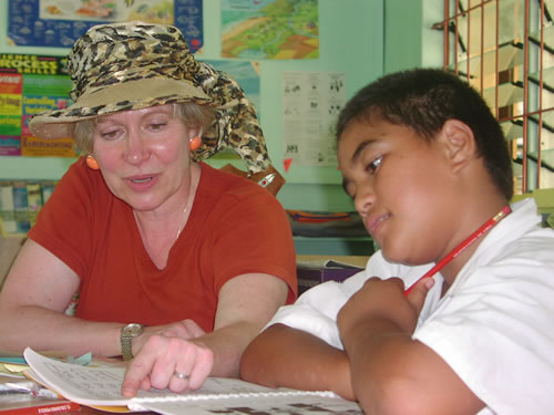 On a senior volunteer program with Global Volunteers