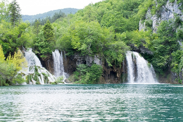 Some of the many waterfalls in Plitvice