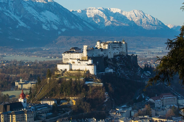 The spectacular old town of Salzburg