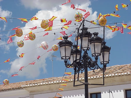 Festival Decorations in Titulcia, Spain