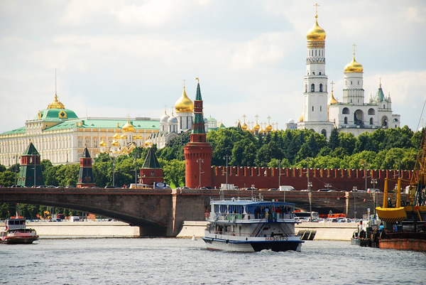 Moscow, Russia from river