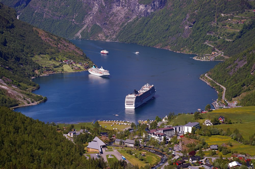 Paid cruise ship work is available worldwide, here in Scandinavia